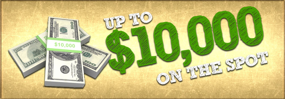 Up to $10,000 Cash For Your Car Today